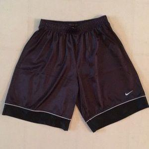 Black with white trim Nike basketball short